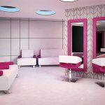 Salon fryzjerski w stylu nowoczesnym z meblami Ayala Hip Hop